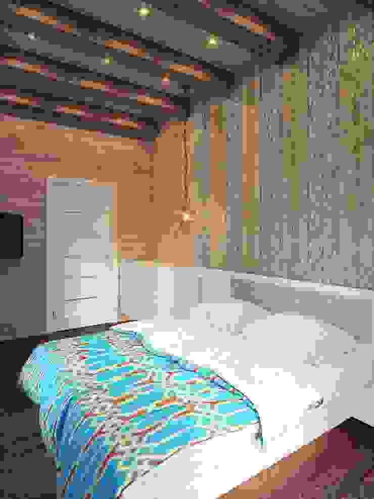 Kamar Tidur Minimalis Oleh Студия дизайна интерьера 'Золотое сечение' Minimalis Kayu Wood effect