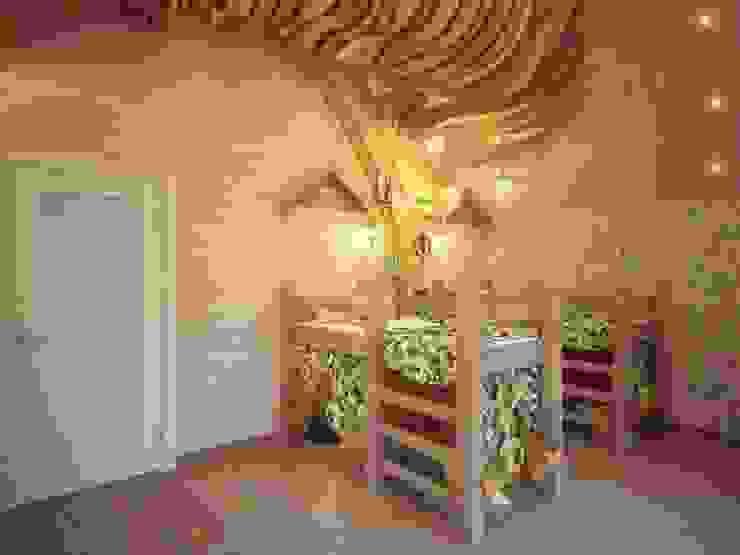 Dormitorios infantiles de estilo rural de Студия дизайна интерьера 'Золотое сечение' Rural Madera Acabado en madera