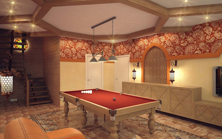 Spa Gaya Mediteran Oleh Студия дизайна интерьера 'Золотое сечение' Mediteran Kayu Wood effect