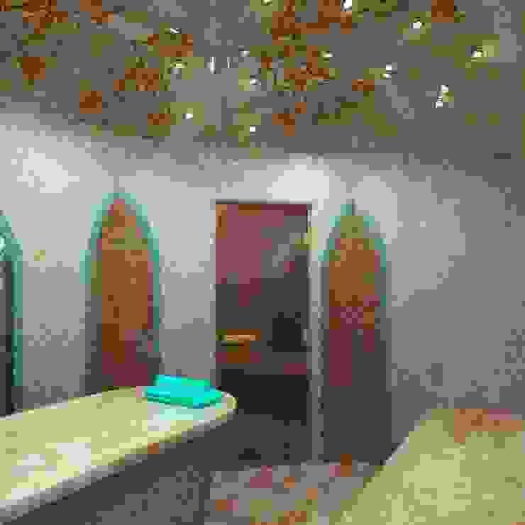 Śródziemnomorskie spa od Студия дизайна интерьера 'Золотое сечение' Śródziemnomorski Ceramiczny