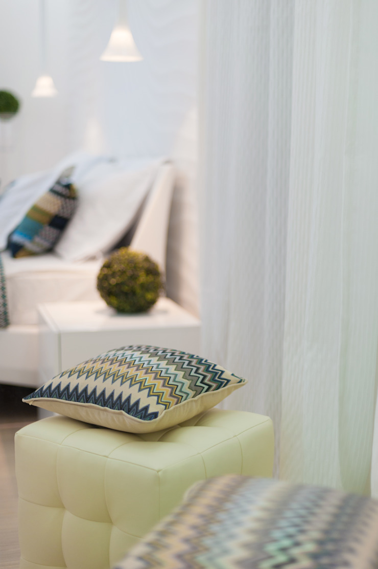 WHITE & WHITE ANNA SHEMURATOVA \ interior design Спальная комната Текстиль