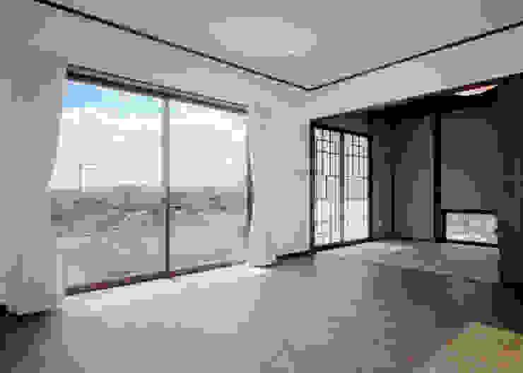 リビング・和室 和風デザインの リビング の KEN-空間設計 和風