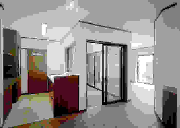 キッチン・中庭・リビング 和風の キッチン の KEN-空間設計 和風