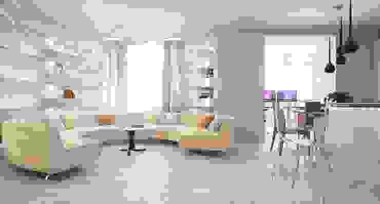 根據 Студия дизайна интерьера 'Золотое сечение' 簡約風 玻璃