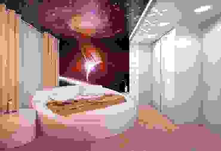 Dormitorios minimalistas de Студия дизайна интерьера 'Золотое сечение' Minimalista Plástico