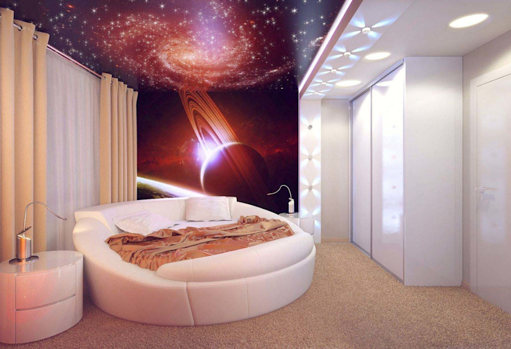 Minimalist Yatak Odası Студия дизайна интерьера 'Золотое сечение' Minimalist Plastik