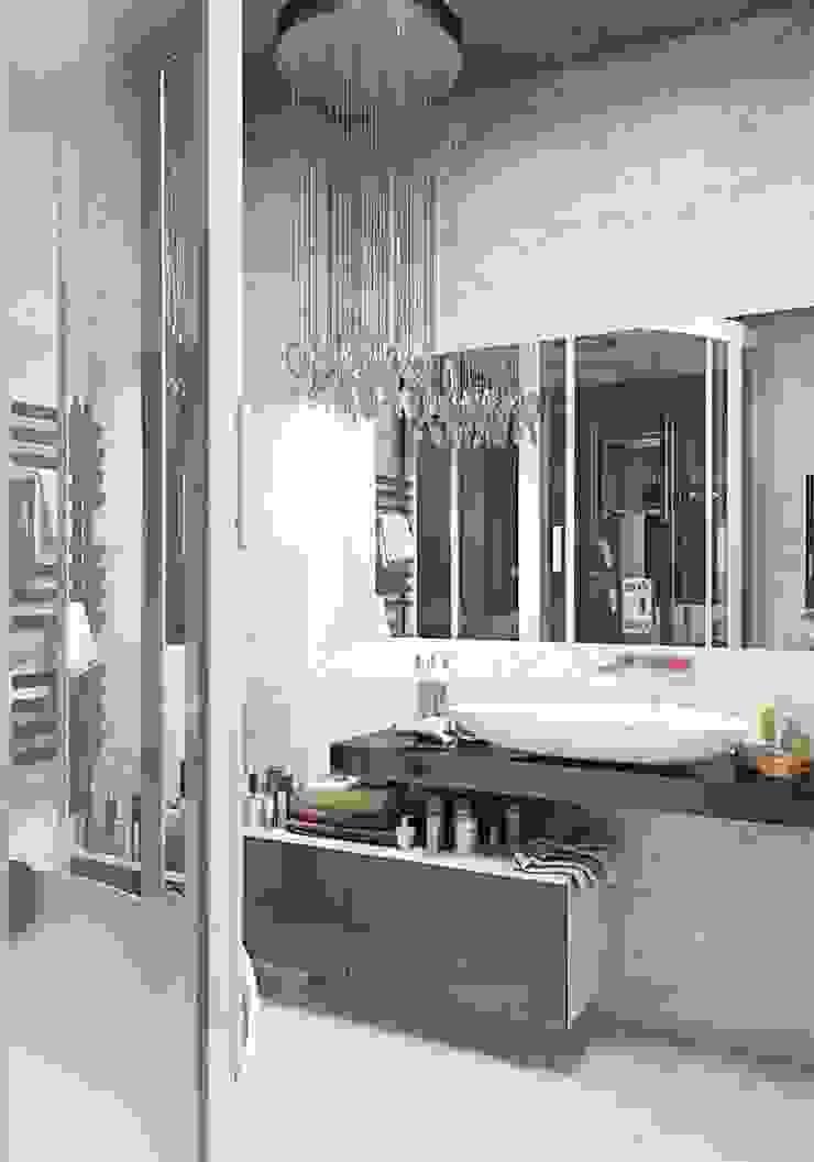 Minimalist style bathroom by Студия дизайна интерьера 'Золотое сечение' Minimalist Ceramic
