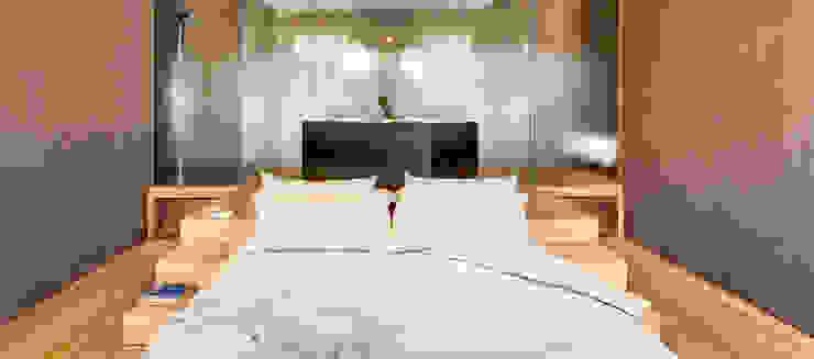 Minimalistyczna sypialnia od Andrea Bella Concept Minimalistyczny