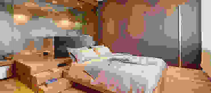 Chambre minimaliste par Andrea Bella Concept Minimaliste