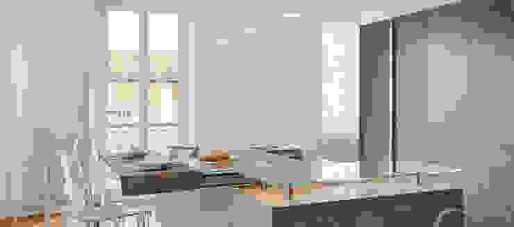 Una colazione in salotto di Andrea Bella Concept Minimalista