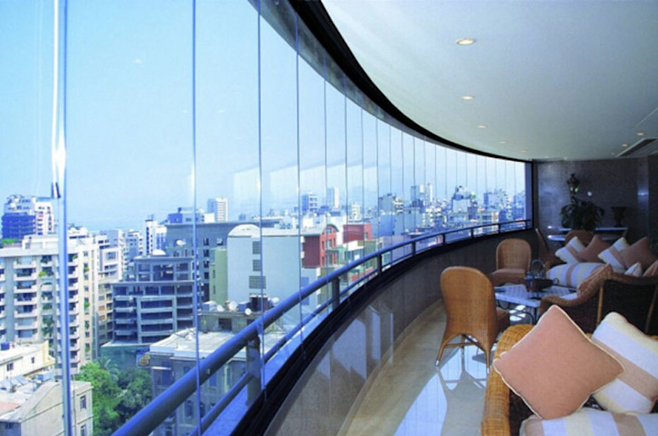 Katlanır Cam Balkon Sistemleri Ada İnşaat Endüstriyel Balkon, Veranda & Teras