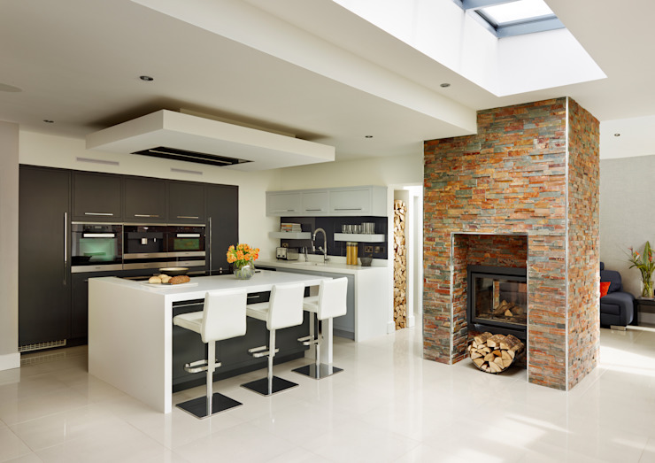 Linear kitchen by Harvey Jones Cozinhas modernas por Harvey Jones Kitchens Moderno