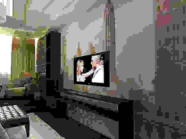 ПРОЕКТ КВАРТИРЫ НОВОПЕРЕДЕЛКИНО Спальня в стиле модерн от ООО Ф-АРТ Модерн