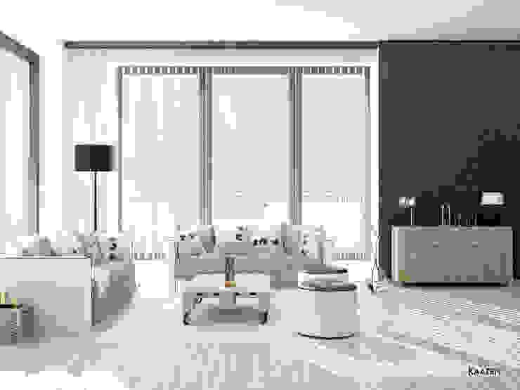 Cortina vertical salón - Kaaten Salones de estilo escandinavo de Kaaten Escandinavo