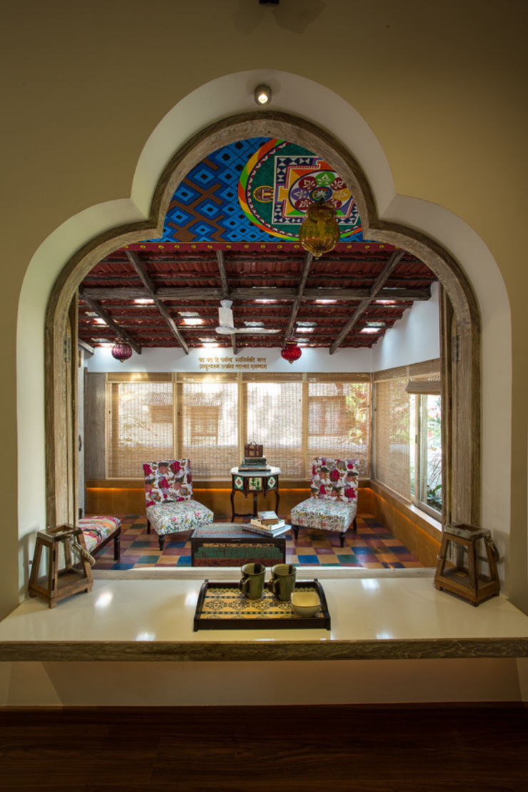 House in Pune Eclectic style balcony, veranda & terrace by The Orange Lane Eclectic