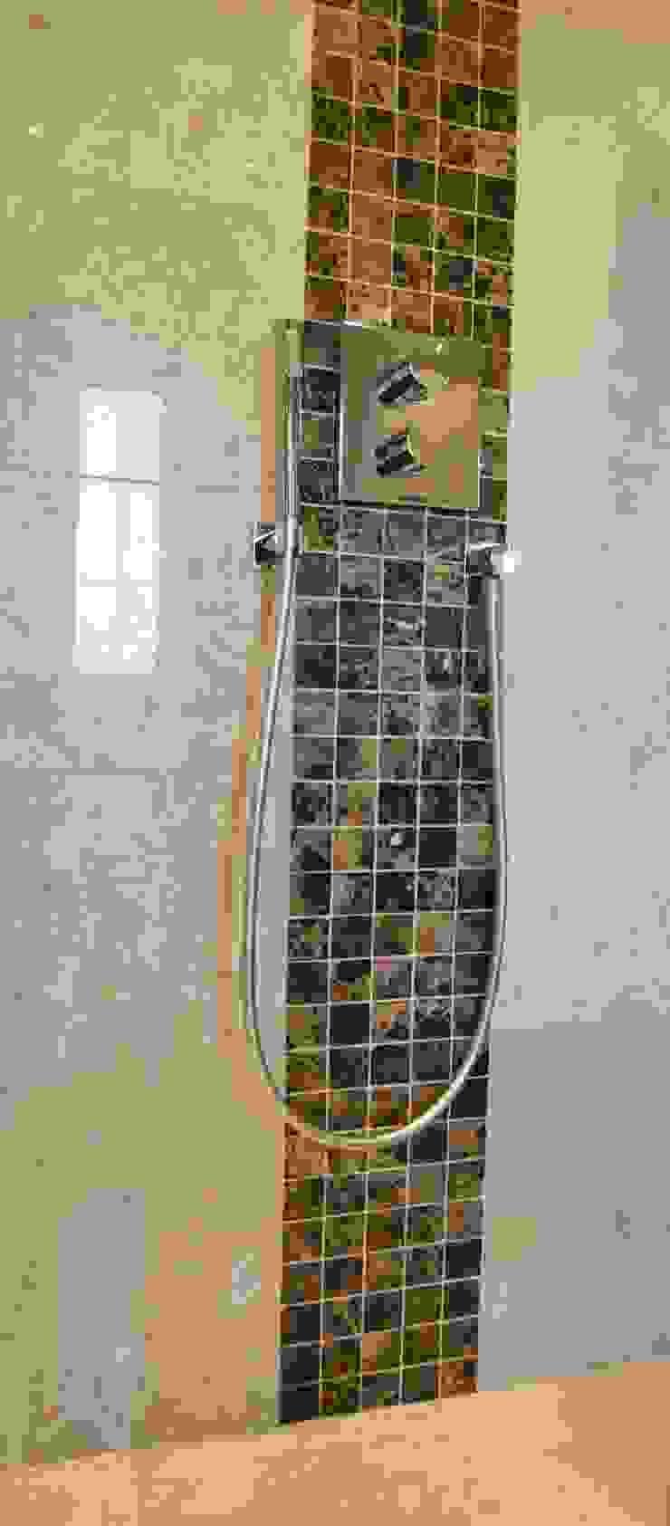 Polished Marble Walk In Shower Modern bathroom by Loveridge Kitchens & Bathrooms Modern
