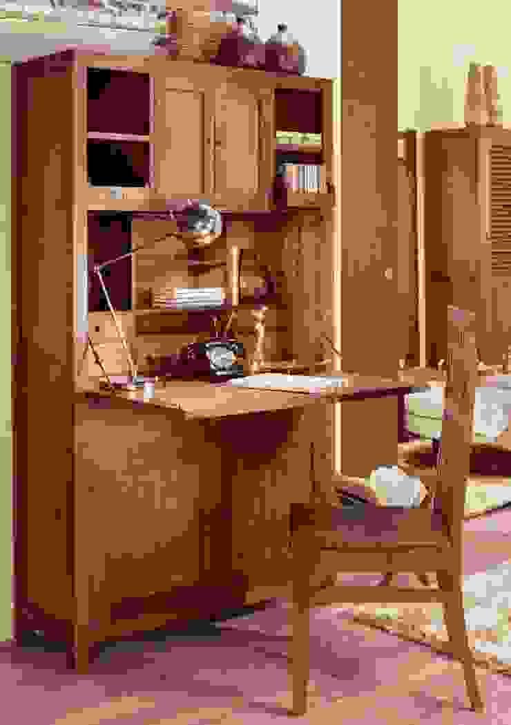 Buró Alto Colonial Star:  de estilo colonial de Paco Escrivá Muebles, Colonial