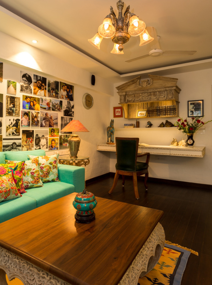 Eclectic Apartment Asian style study/office by The Orange Lane Asian