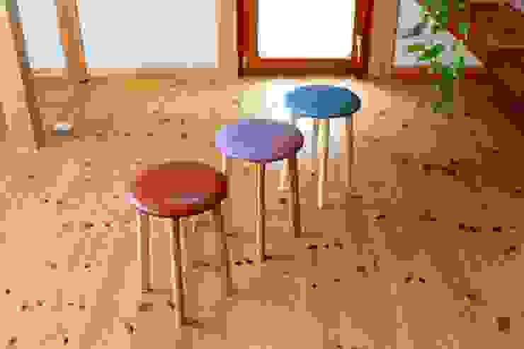 round stool trusty wood works ダイニングルーム椅子&ベンチ