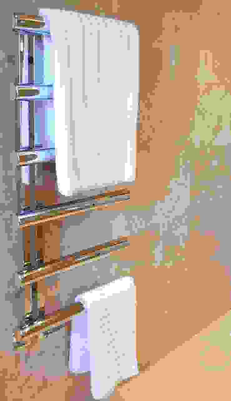 Polished Marble En Suite - Chimes Heated Towel Rail Modern bathroom by Loveridge Kitchens & Bathrooms Modern