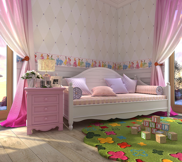 Chambre d'enfant rurale par Your royal design Rural