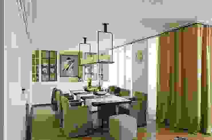 Квартира 180 кв.м. на Вернадском проспекте, Москва Кухни в эклектичном стиле от Дизайн-бюро Галины Микулик Эклектичный