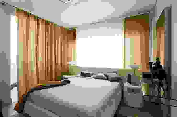 Квартира 120 кв.м. на ул. Комарова, Москва Спальня в эклектичном стиле от Дизайн-бюро Галины Микулик Эклектичный