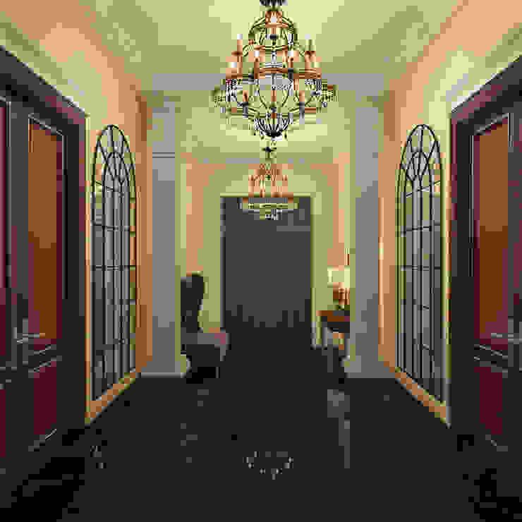 Холл Коридор, прихожая и лестница в классическом стиле от Осташкина Галина Классический
