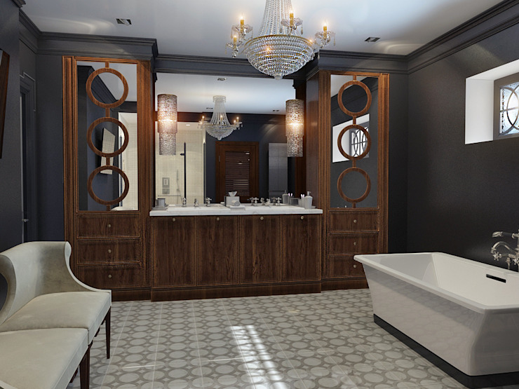 Ванная комната Ванная в классическом стиле от Осташкина Галина Классический