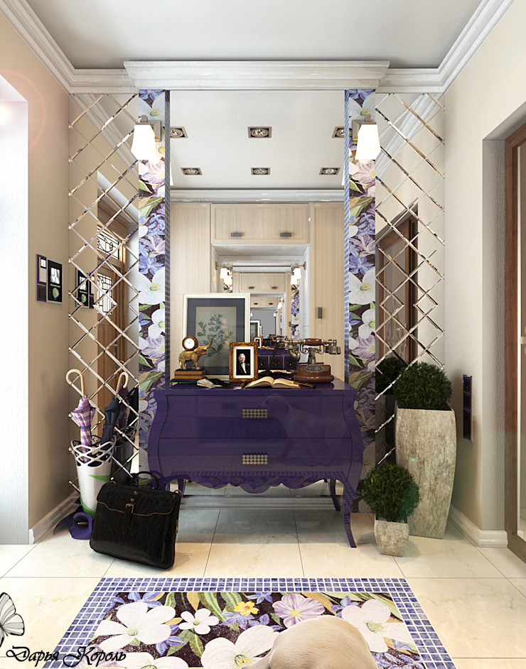 Your royal design Eclectic style corridor, hallway & stairs