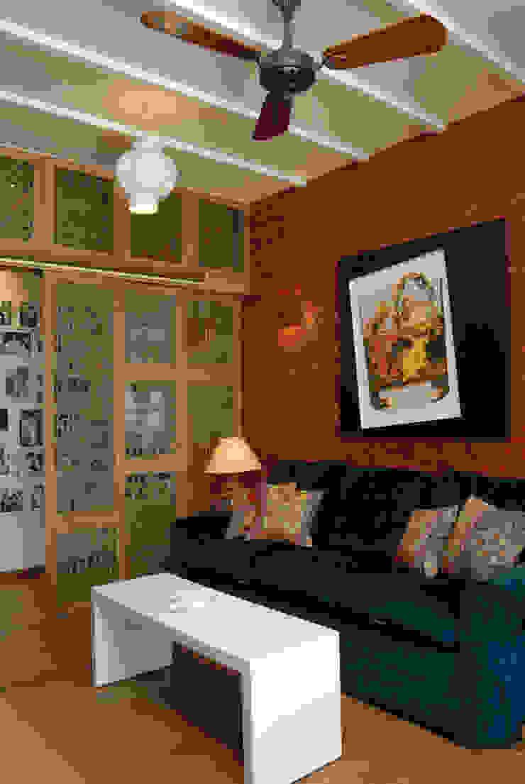 Fusion interiors Minimalist media room by The Orange Lane Minimalist
