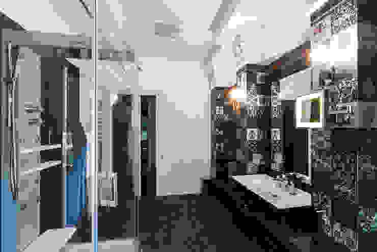 Офис с камином. Ванная комната в эклектичном стиле от Дизайн интерьера Проценко Андрея Эклектичный