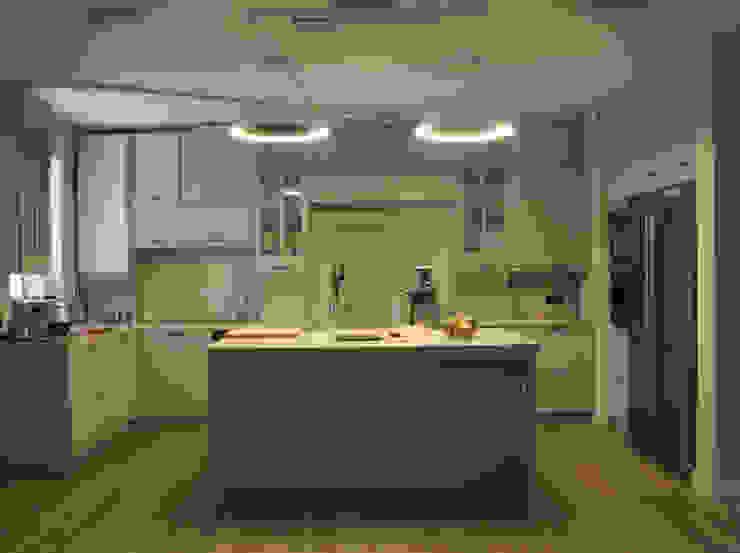 квартира в Москве на Поварской ул Кухни в эклектичном стиле от YURTOV STUDIO Эклектичный