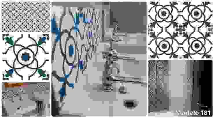 Ejemplos de nuestras baldosas Baños de estilo clásico de Suelos Hidráulicos Demosaica Clásico
