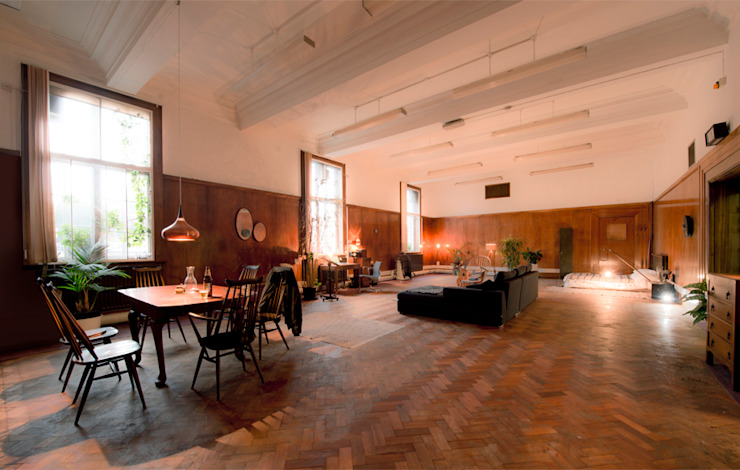 The Function Suite, London Industrial style living room by antonygibbondesigns Industrial