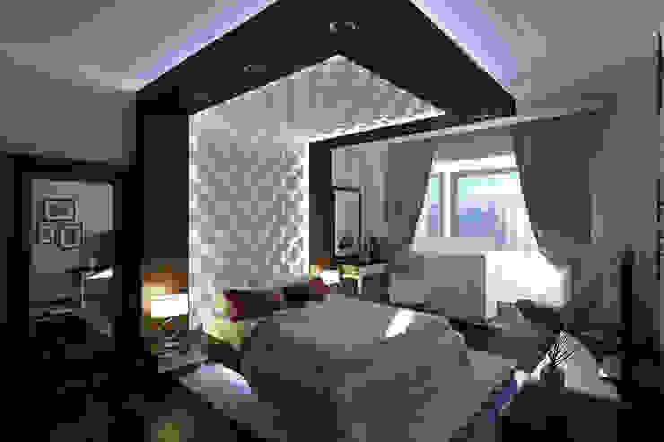 Квартира в Митино Спальня в стиле минимализм от Geometrium Минимализм