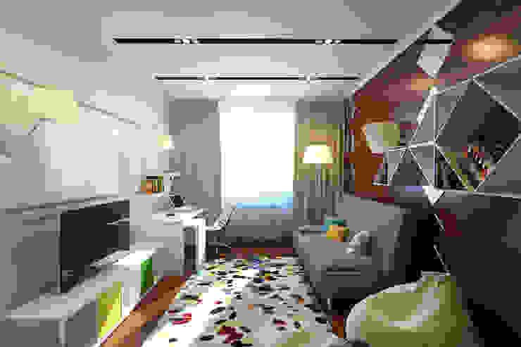 Квартира в Митино Детская комнатa в стиле минимализм от Geometrium Минимализм