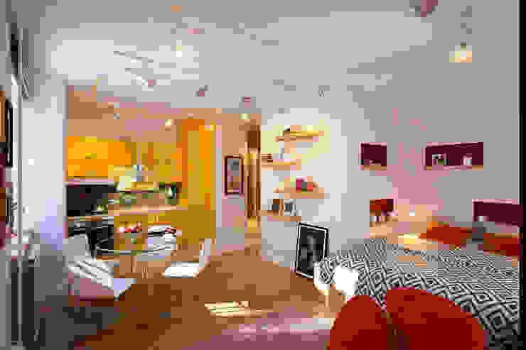 Квартира в ЖК «Ленсоветовский»: Гостиная в . Автор – Geometrium, Минимализм
