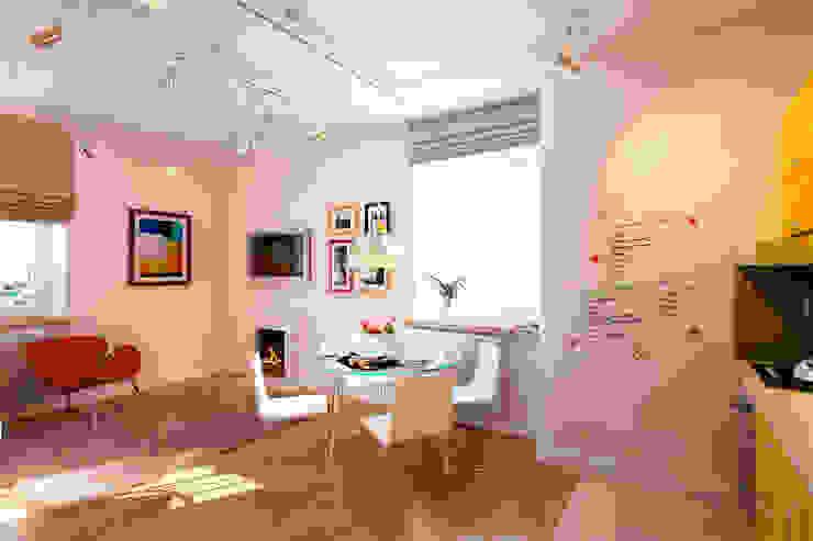 Квартира в ЖК «Ленсоветовский» Гостиная в стиле минимализм от Geometrium Минимализм
