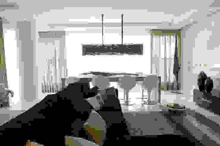 Projeto arquitetônico do apartamento decorado Platanos Salas de estar ecléticas por ArchDesign STUDIO Eclético