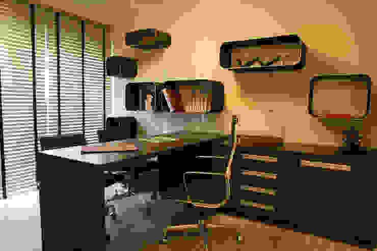 Projeto arquitetônico do apartamento decorado Platanos Escritórios ecléticos por ArchDesign STUDIO Eclético