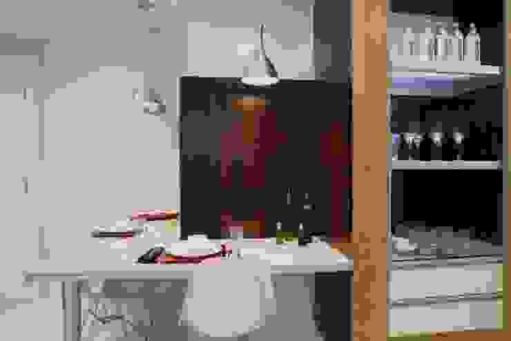 Projeto arquitetônico do apartamento decorado do Porto Atlantico. Cozinhas ecléticas por ArchDesign STUDIO Eclético