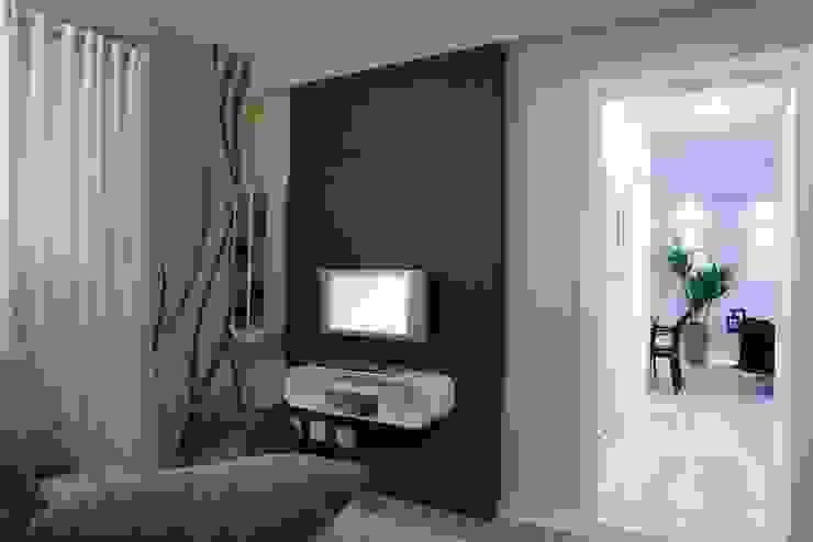 Projeto arquitetônico do apartamento decorado do Porto Atlantico. Salas de estar ecléticas por ArchDesign STUDIO Eclético