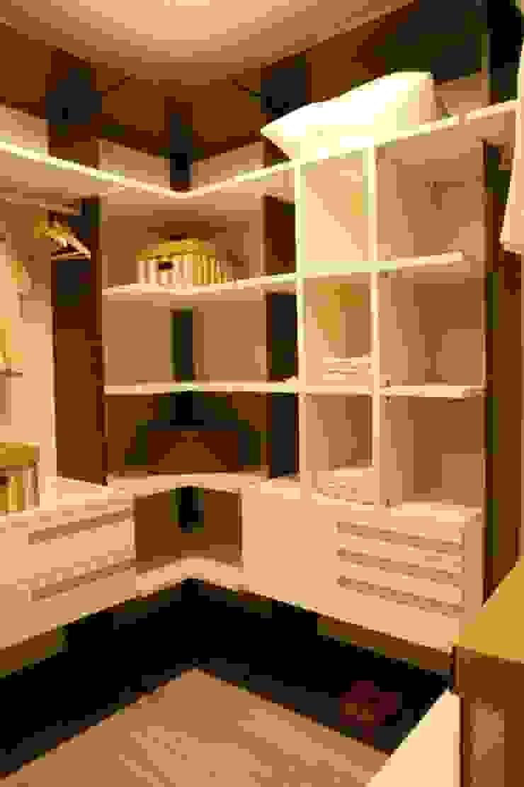 Projeto arquitetônico do apartamento decorado do Porto Atlantico. Closets por ArchDesign STUDIO Eclético