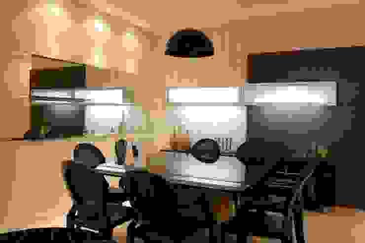 Projeto arquitetônico do apartamento decorado do Porto Atlantico. Salas de jantar ecléticas por ArchDesign STUDIO Eclético