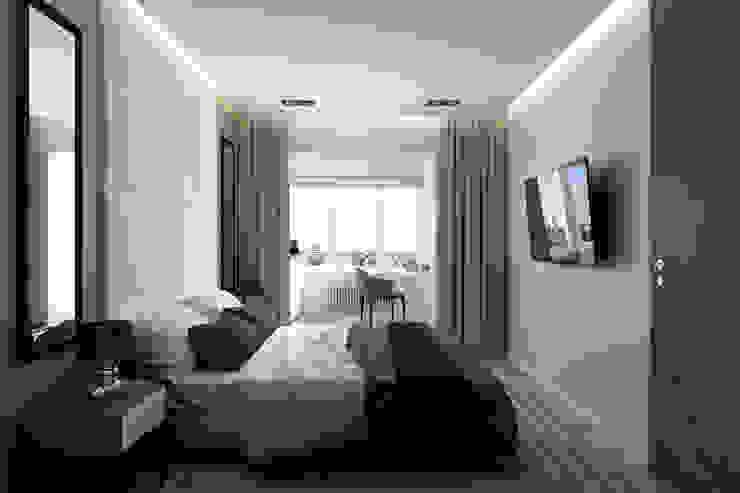 Квартира на Богатырском Спальня в стиле минимализм от Geometrium Минимализм