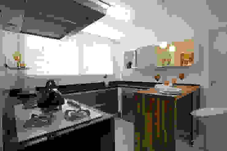 Projeto arquitetônico do apartamento decorado Platanos Cozinhas ecléticas por ArchDesign STUDIO Eclético