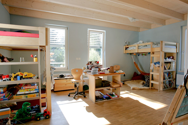 Rustic style nursery/kids room by homify Rustic