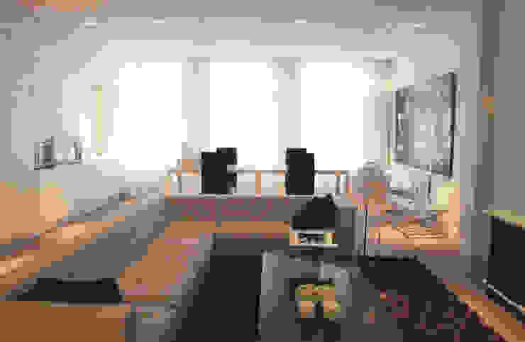 Model appartement Antwerpen, België Moderne woonkamers van By Lenny Modern