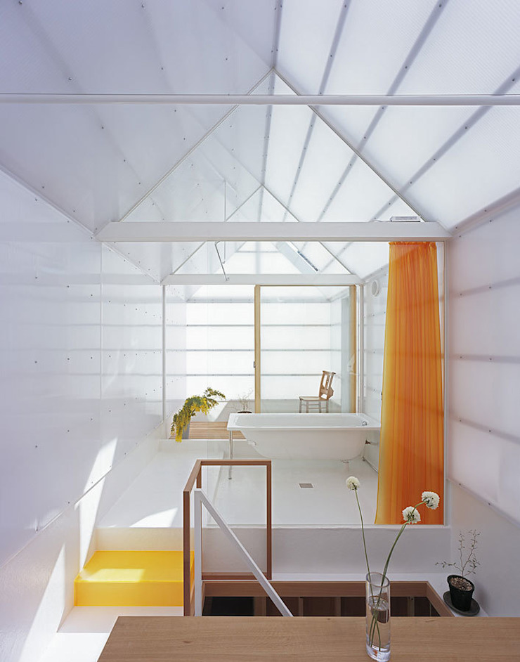 House in Yamasaki Eclectic style bathroom by 島田陽建築設計事務所/Tato Architects Eclectic
